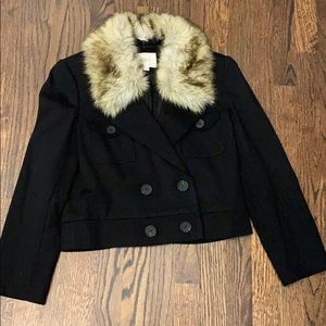 LOFT jacket black with removable fur
